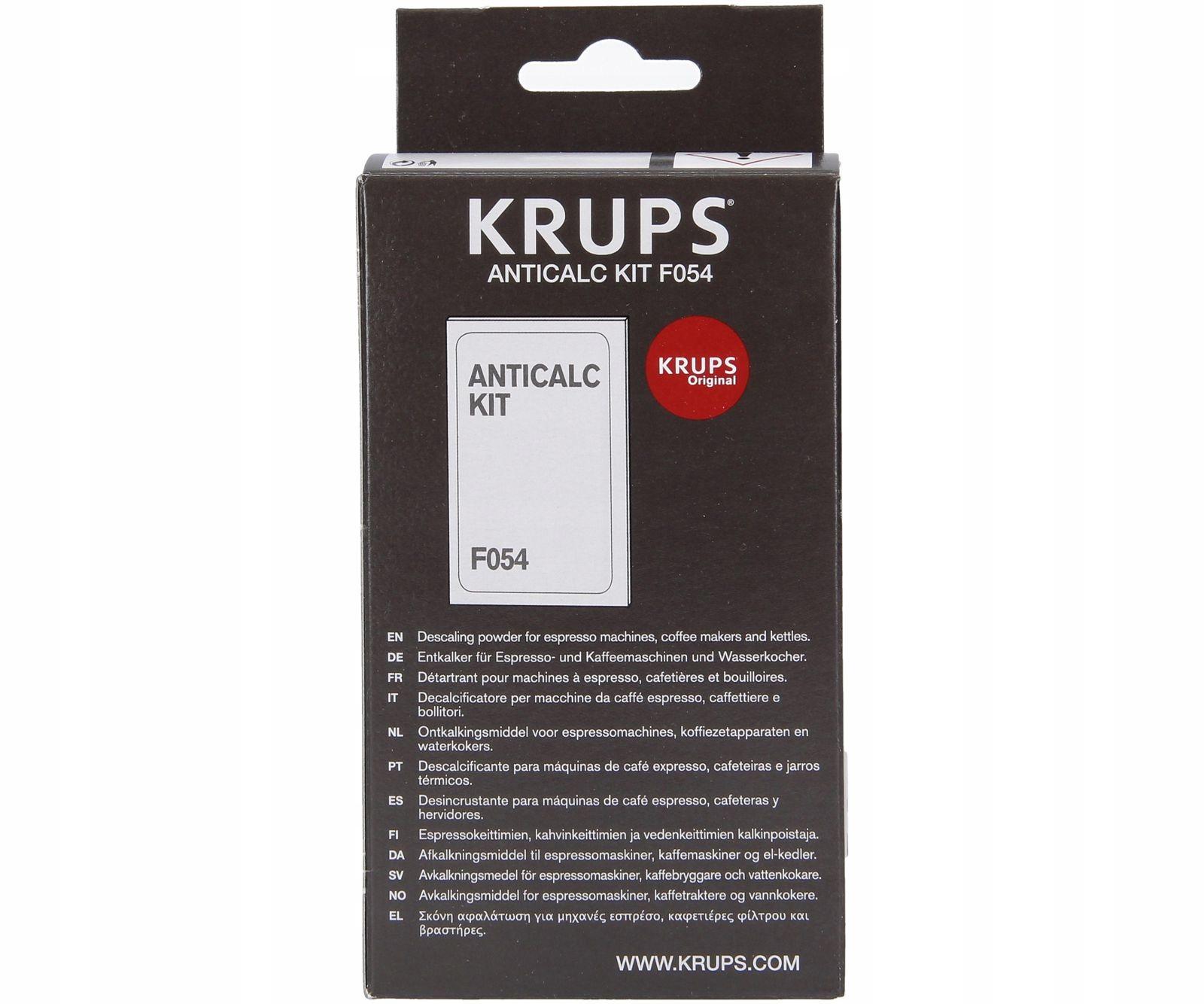 Для удаления накипи F054 для кофемашины Krups F96541380