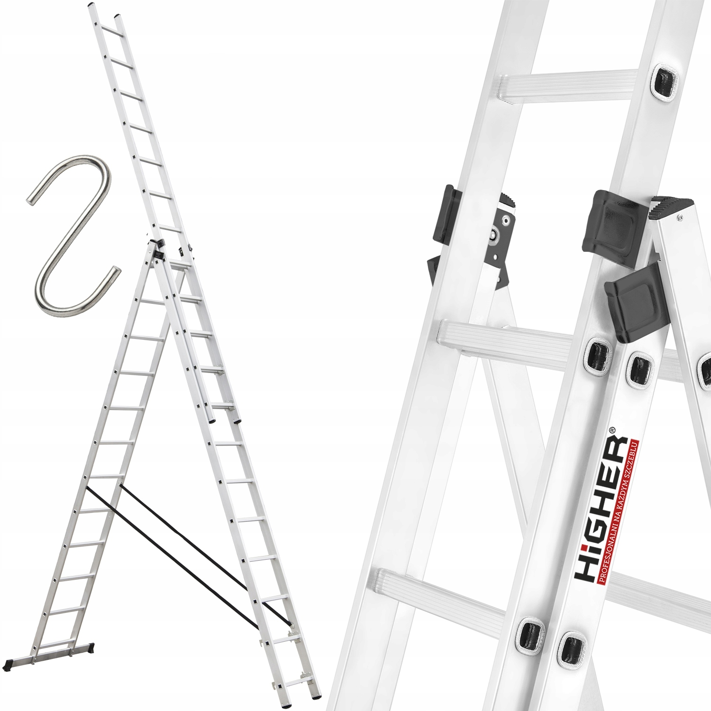 Высшее Лестница алюминиевая 3x12 Profesional +