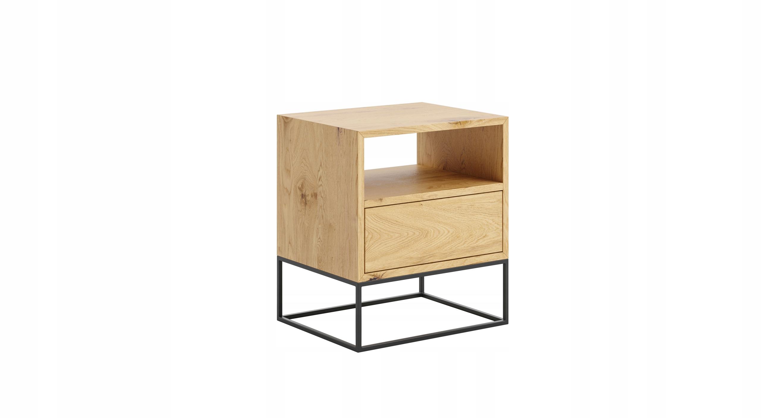 Nočný stolík MOON so zásuvkou LOFT RETRO