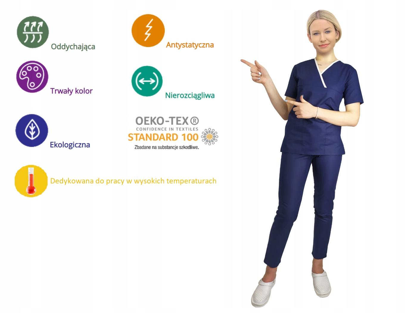 Bluza medyczne SOFT specyfikacja