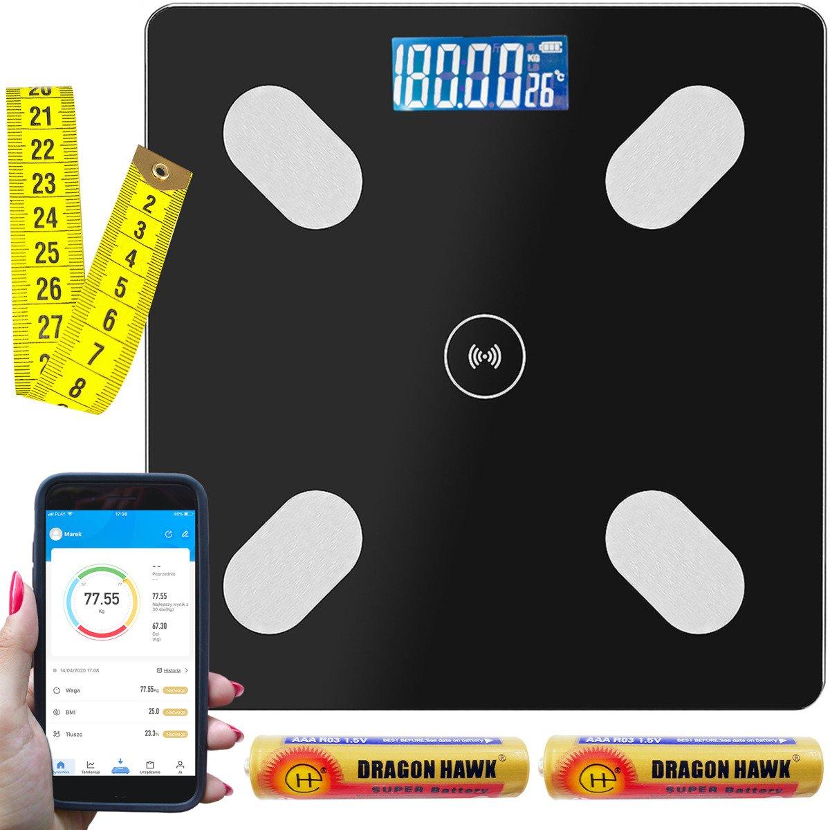 Inteligentna Waga Łazienkowa Pomiar Mięśni Tłuszcz