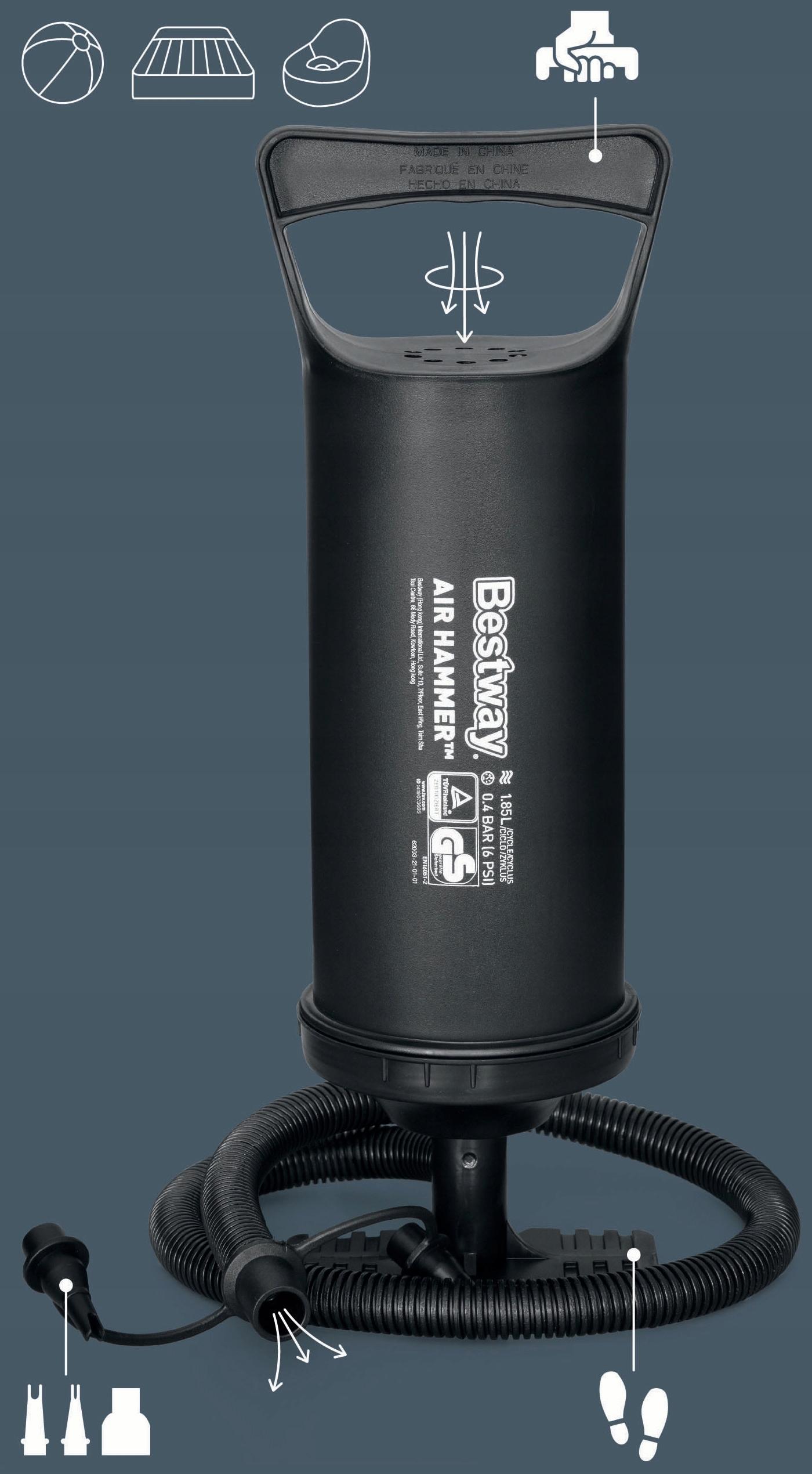 Ręczna POMPKA TŁOKOWA 36CM, BESTWAY 62003, DUŻA Kod producenta 62003
