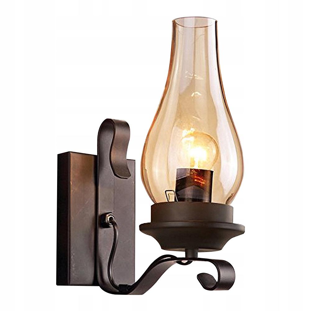 1PC Retro petrolejová nástenná lampa, chodba, schody, železo Sz
