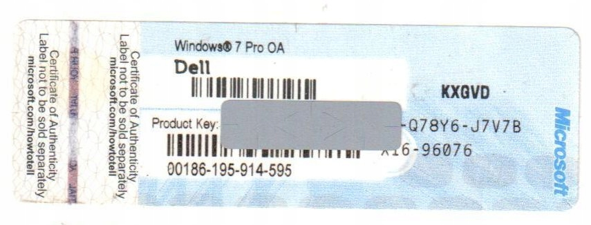 Coa Ms Windows 7 Professional 32 64 Oem Oryginalna Sklep Komputerowy Allegro Pl