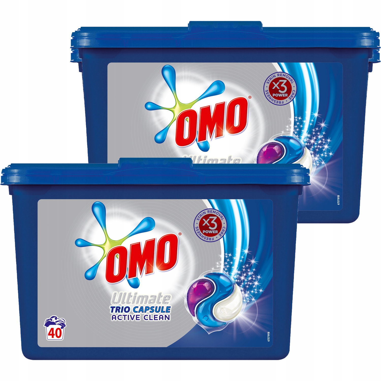 Omo Ultimate Активная Чистая прачечная Капсулы 80 pr
