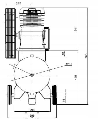 SPRĘŻARKA KOMPRESOR 50L ATLAS COPCO AC 21 E 50 M Zasilanie elektryczne sieciowe