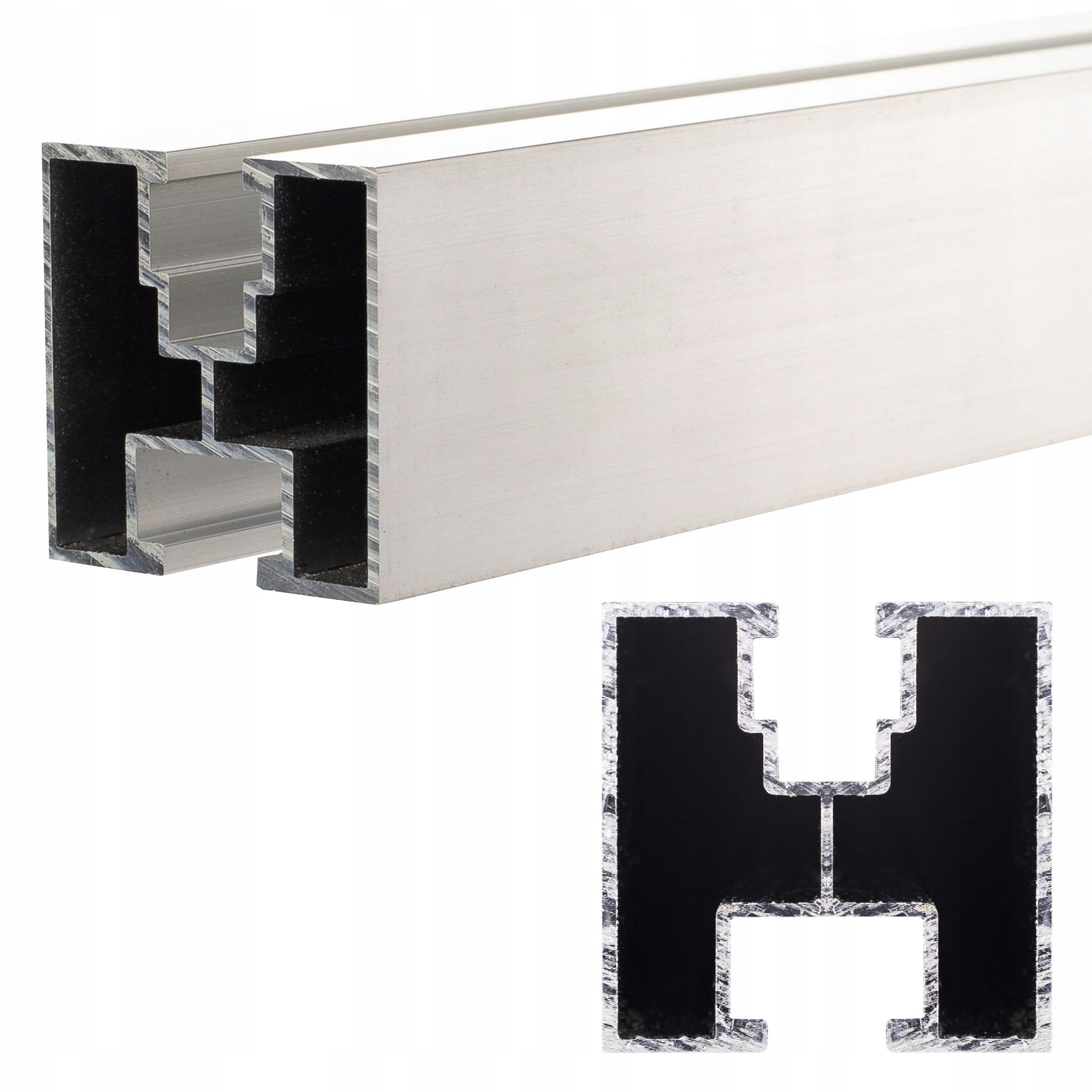 Монтажный профиль PV алюминиевый рельс 40x40 2070 мм