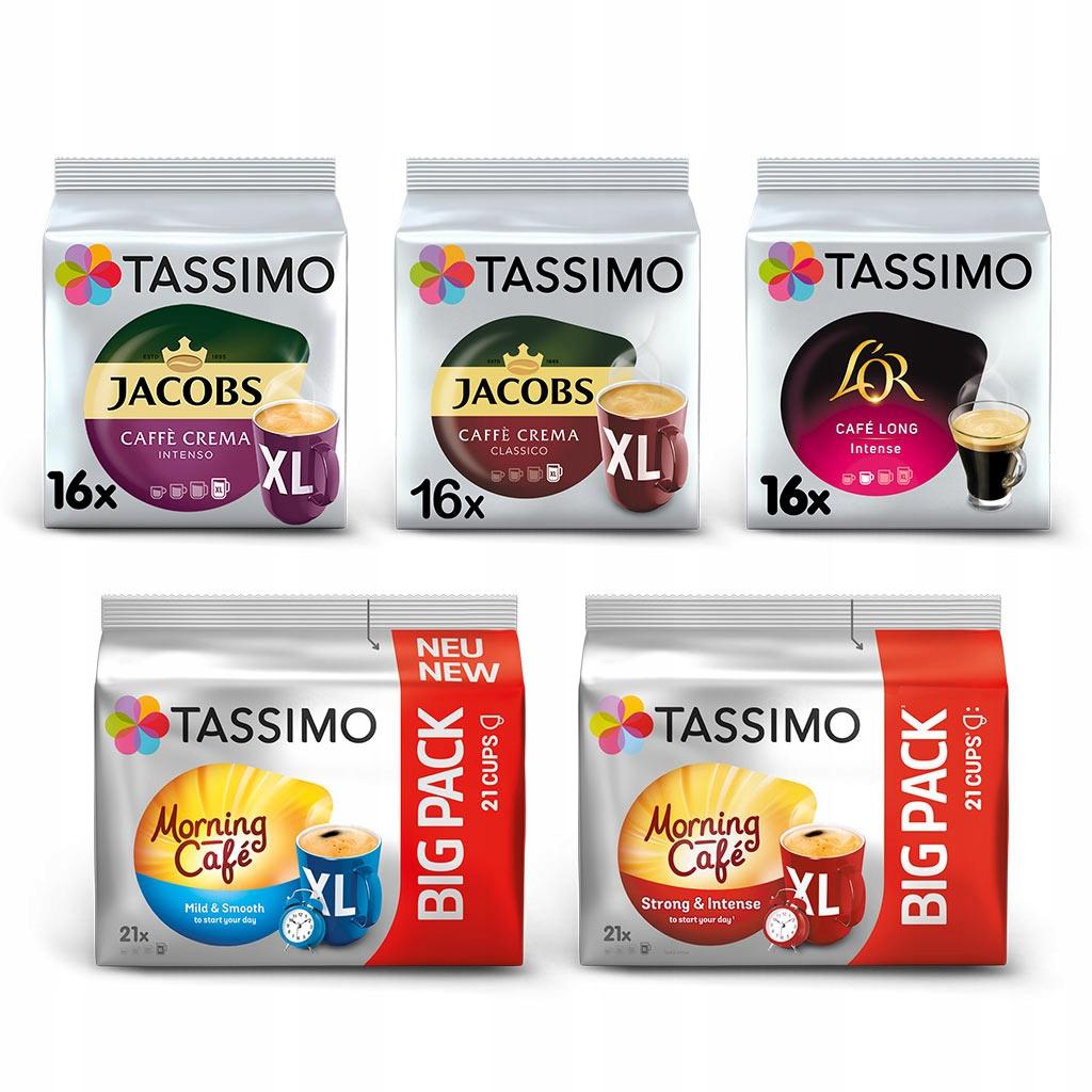 Kapsułki Tassimo mix zestaw kaw czarnych, 90szt.