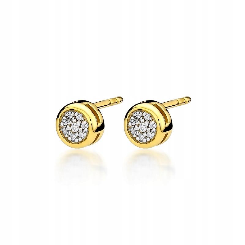 Zlaté náušnice s diamantmi z 0.09 ct závitové skrutky