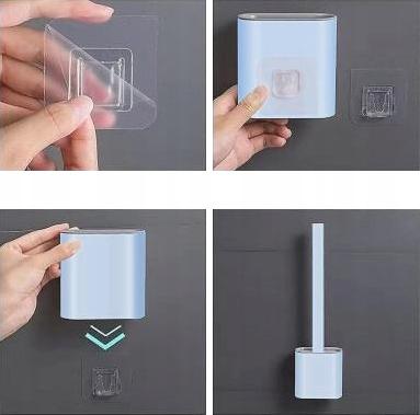 Szczotka SILIKONOWA toaletowa DO TOALETY WC uchwyt Materiał końcówki silikon