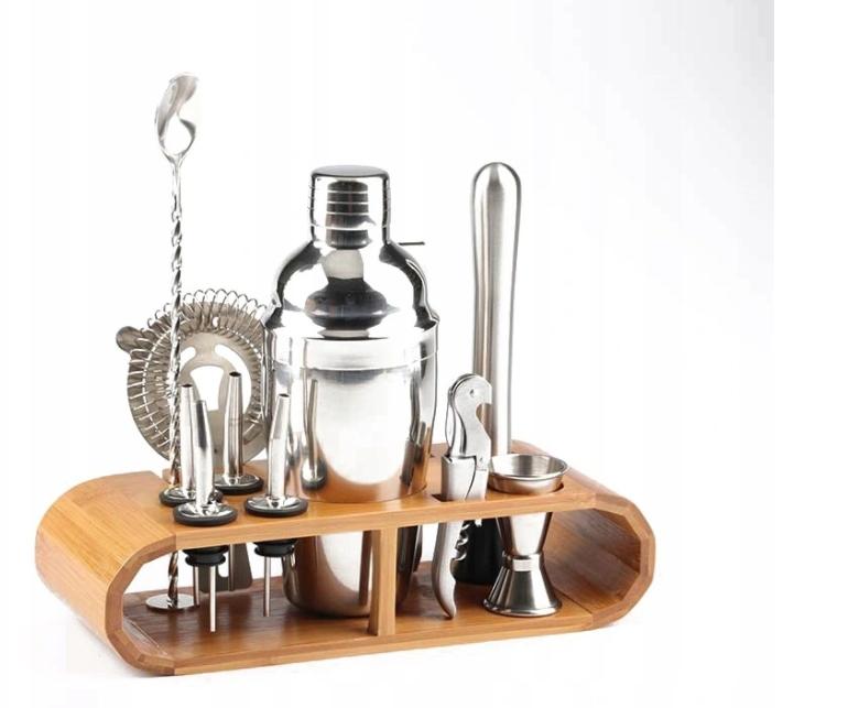 Барменский набор для напитков, бамбуковая основа 12el