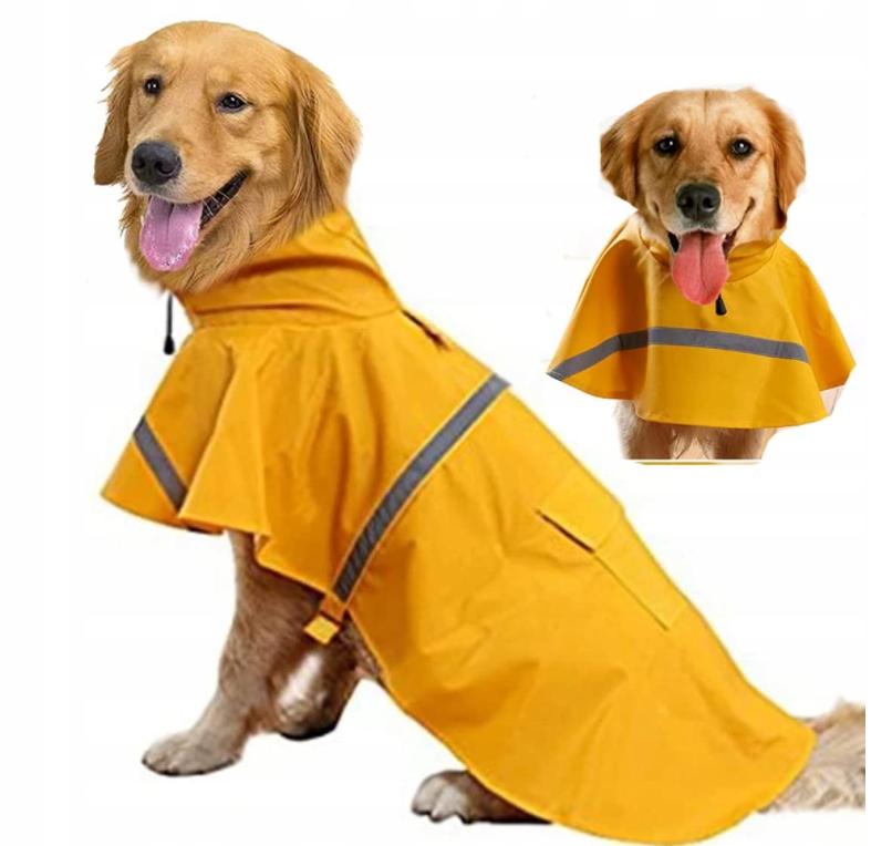 собака для домашних животных Водонепроницаемое пончо с капюшоном XXL