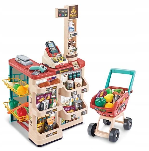Lt184 Supermarket Sklep Dla Dzieci Wozek Terminal 9543184091 Allegro Pl