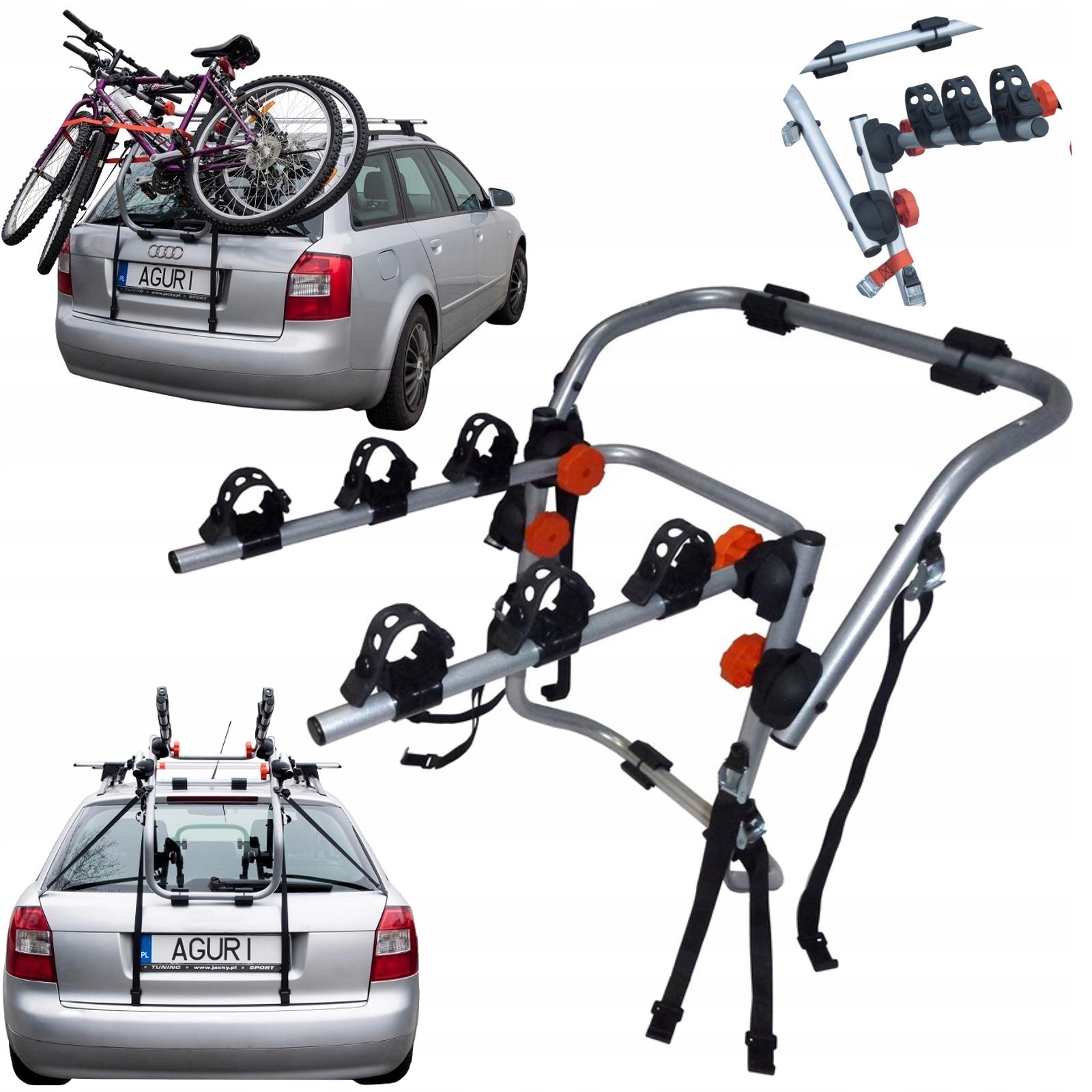 AGURI SPIDER 3 SILVER Bagażnik rowerowy na klapę