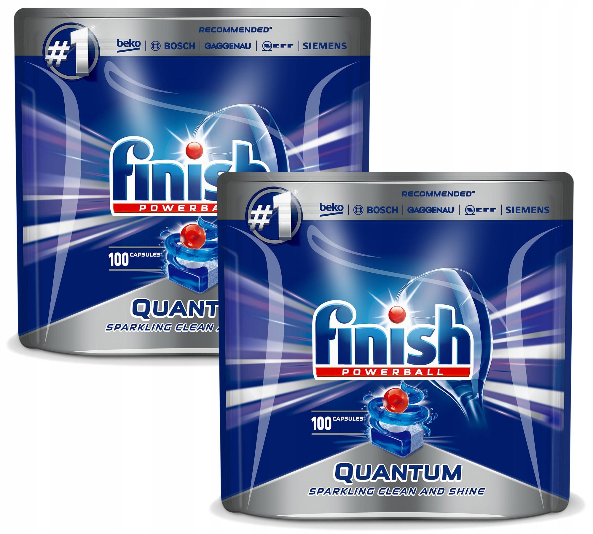 Finish Quantum Tabletki Zmywarki 2 x 100= 200szt