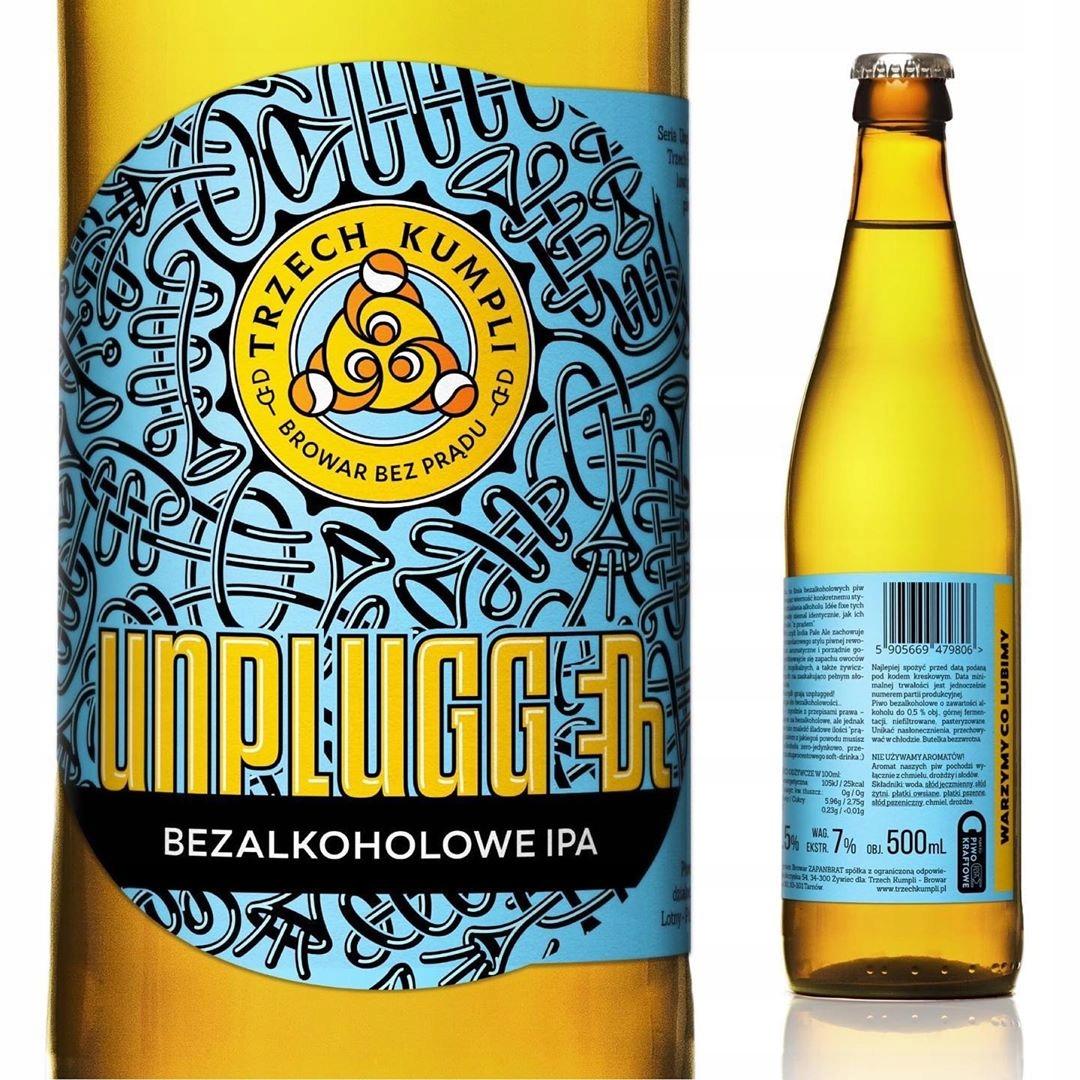 Piwo Unplugged IPA bezalkoholowe <0,5% 500ml
