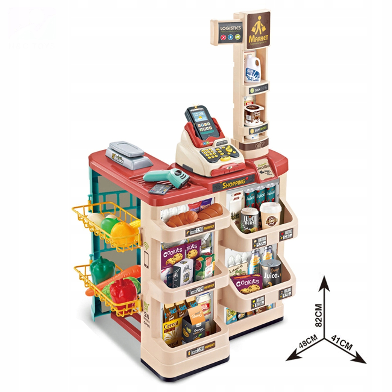 Supermarket wózek na zakupy kasa czytnik 668-78 Kolor dominujący wielokolorowy