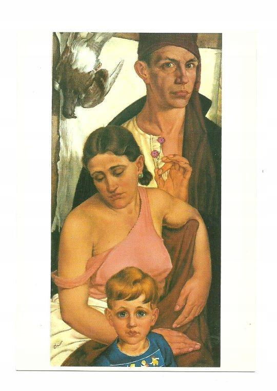 Почт - Семейный портрет художника с мертвым голубем