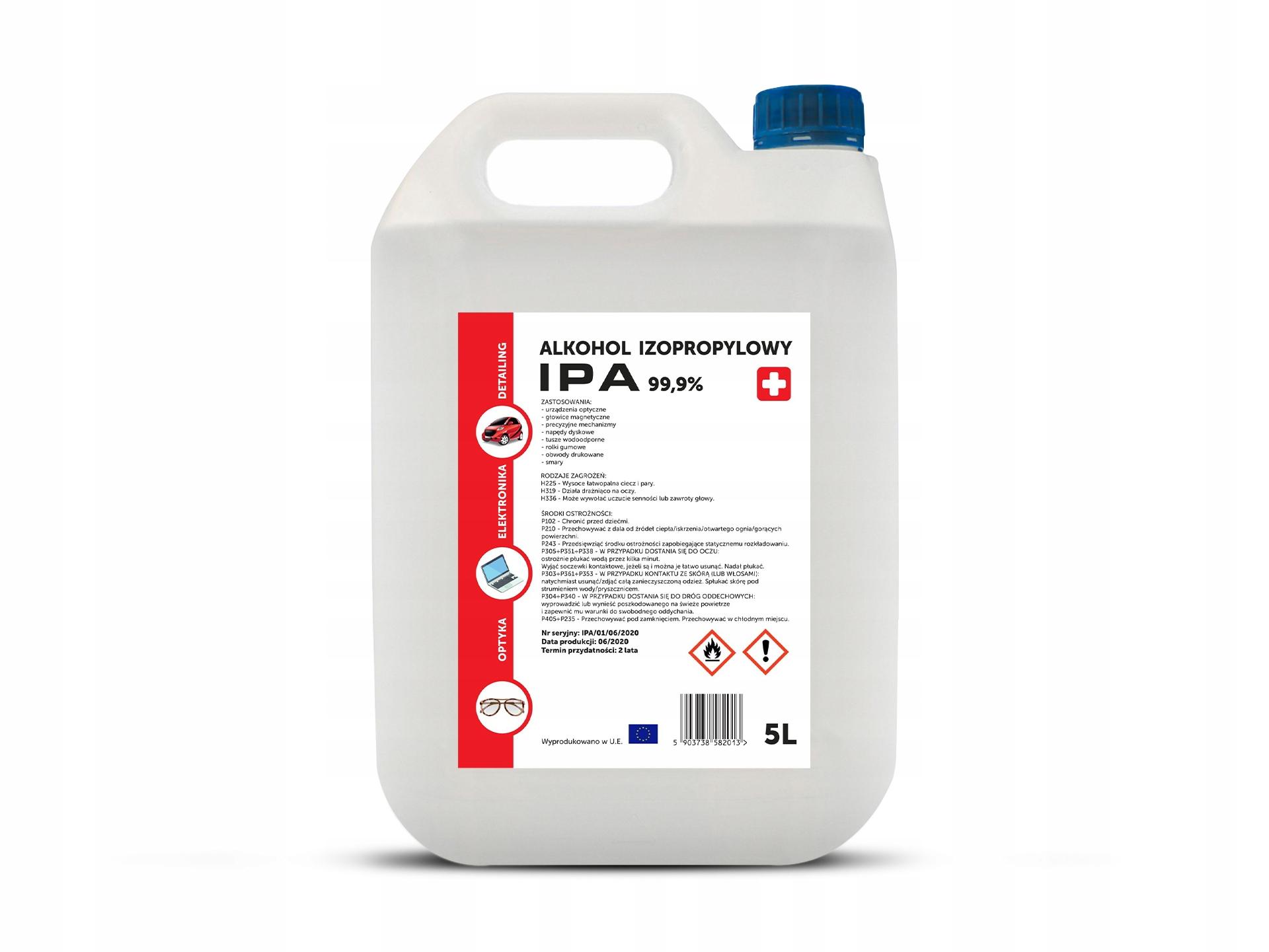 Изопропиловый спирт IPA PURE ISOPROPANOL 99,9% 5L