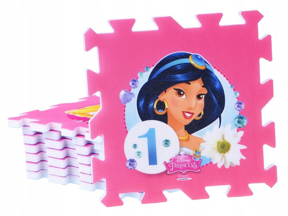 Puzzle piankowe Disney Princess mata 31x31 ZA3154 Liczba elementów 9 szt.