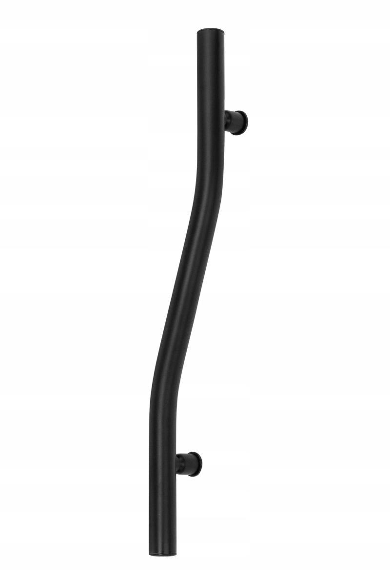 Vitálna čierna dekoratívna rukoväť na stenu