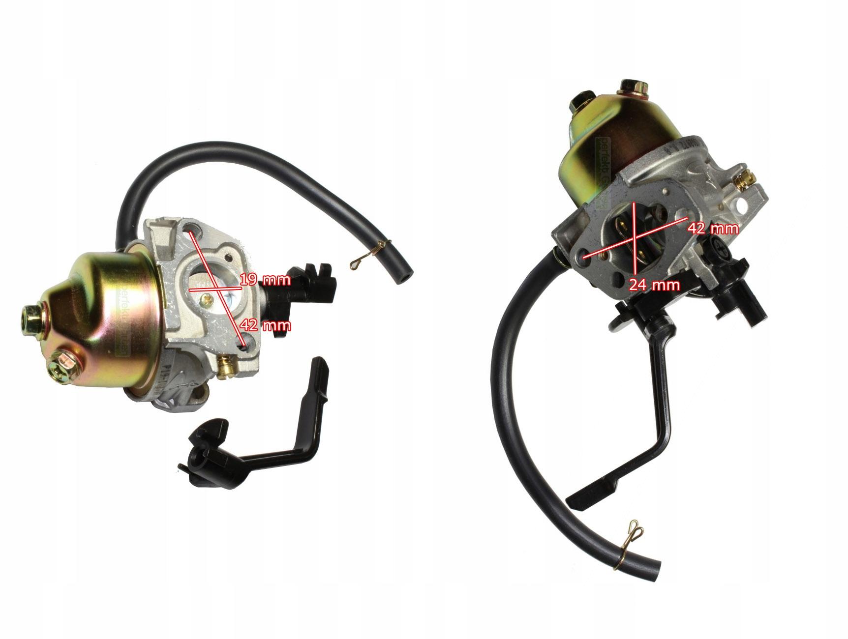Karburátor generátora s výkonom 2 - 9 kW