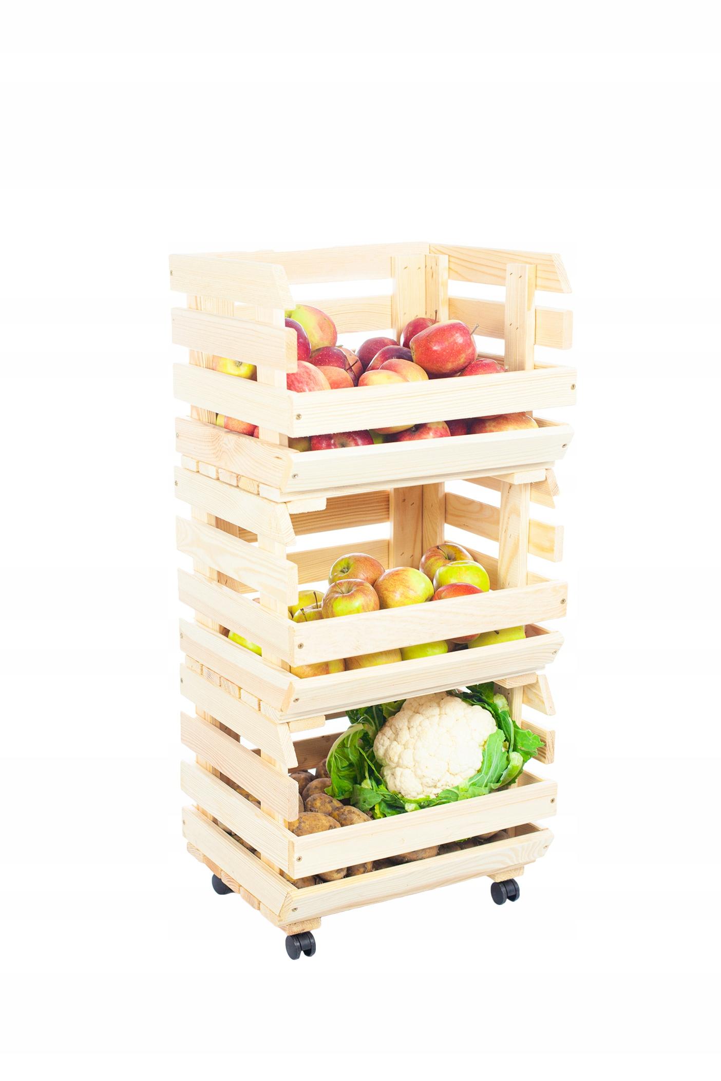 ящики для овощей фрукты на 4 колеса подставка