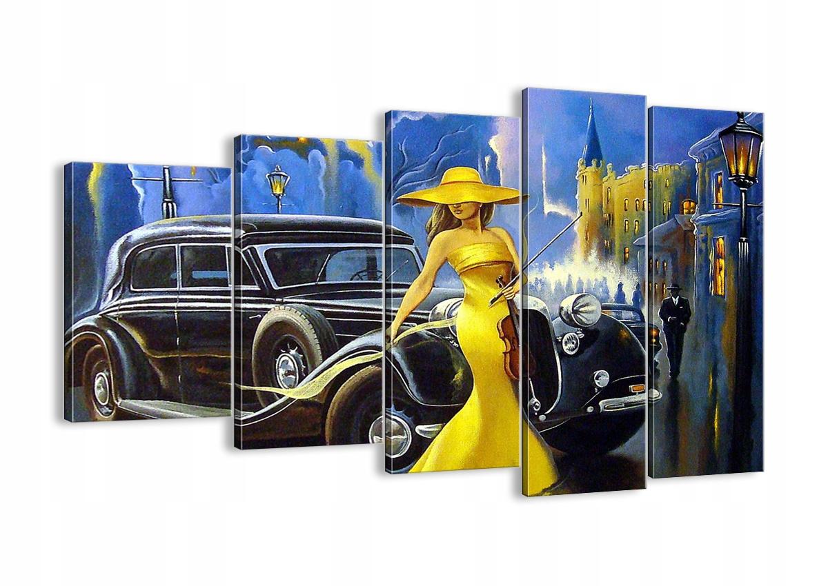 Maľovanie na plátno žena retro štýl EG150x100-3449