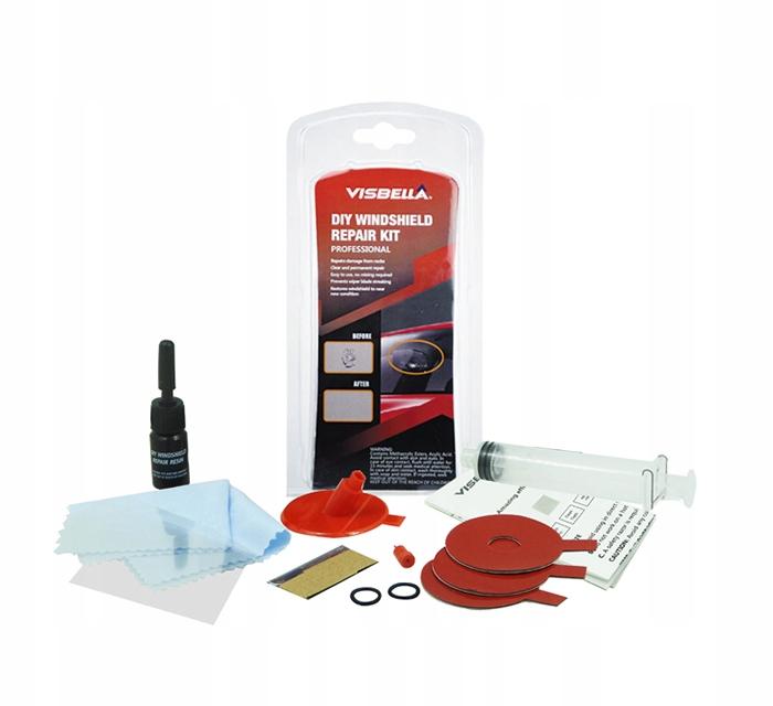 Комплект для ремонта лобового стекла VISBEL клей