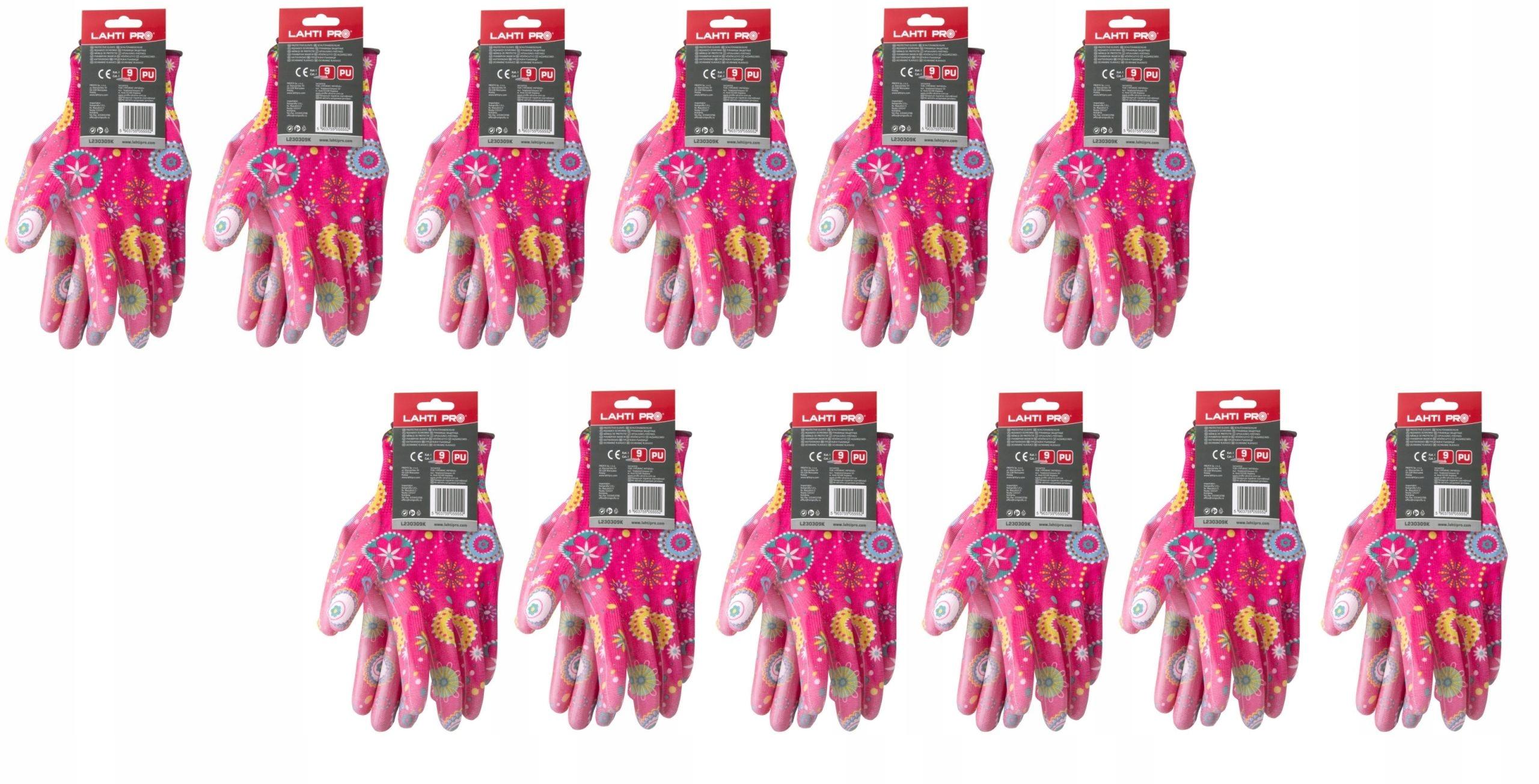 Перчатки рабочие защитные женские садовые 12 пар М