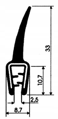 USZCZELKA GUMOWA ZBROJONA NA RANT Z PŁETWĄ T-45 Marka inna
