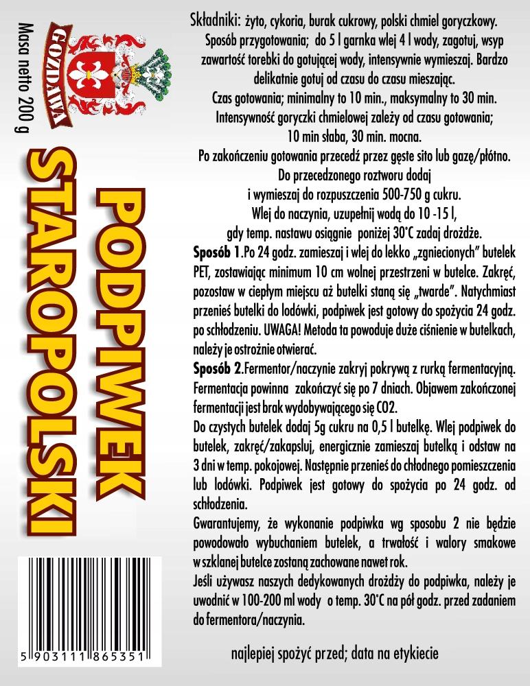 подставка Старопольский   пиво домашние