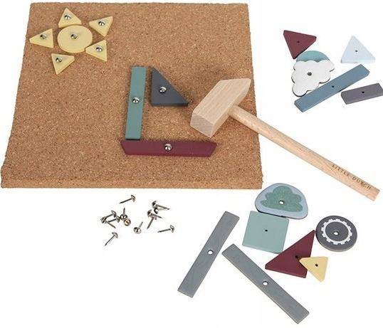PRZYBIJANKA z młoteczkiem 162 el. LITTLE DUTCH 3+ Materiał Drewno Metal Inny