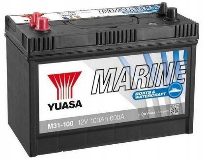 YUASA Аккумулятор 100AH 12V 600A L + MARINE LINE