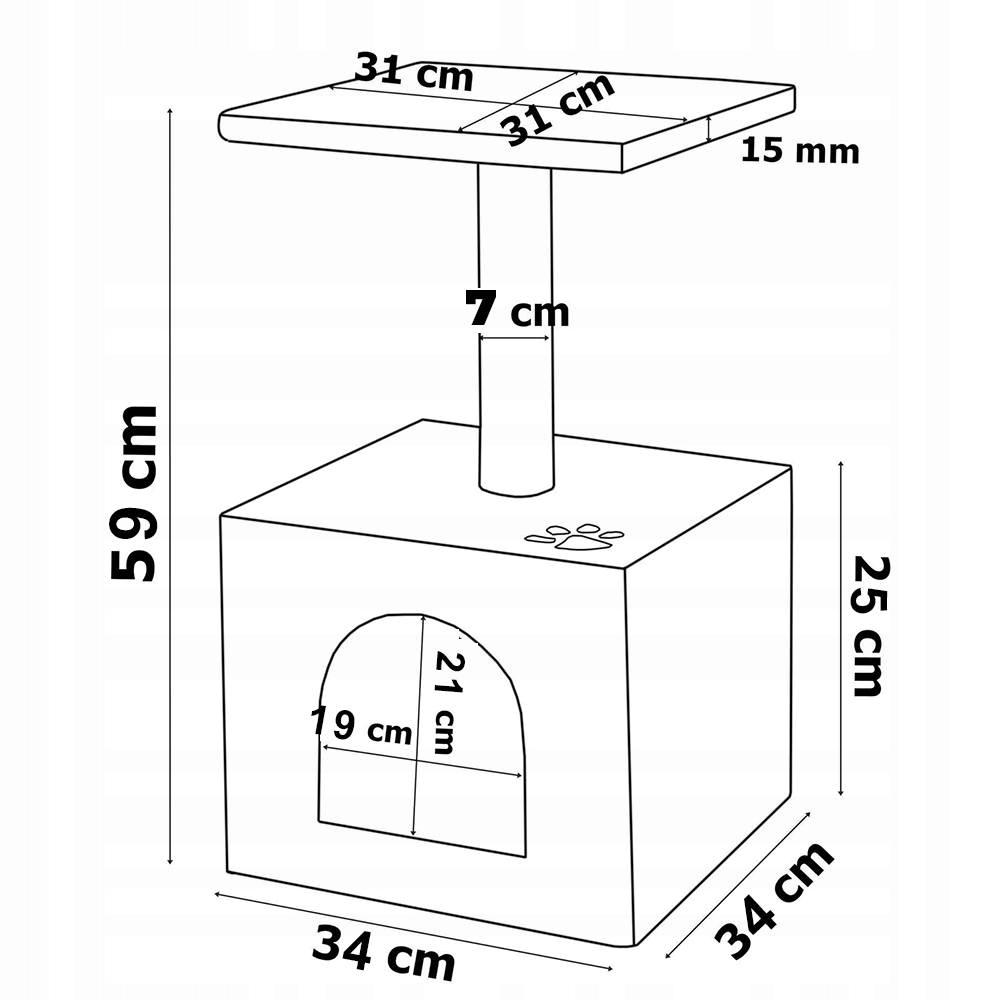 MÁSKA CLIPPER HOUSE STROM SPRCHA 3 ÚROVNE 56 cm Výška (cm) do 60 cm