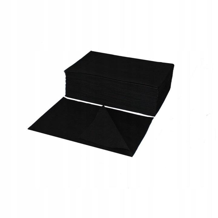Полотенца одноразовые черные на флизелине 40х70 50шт.