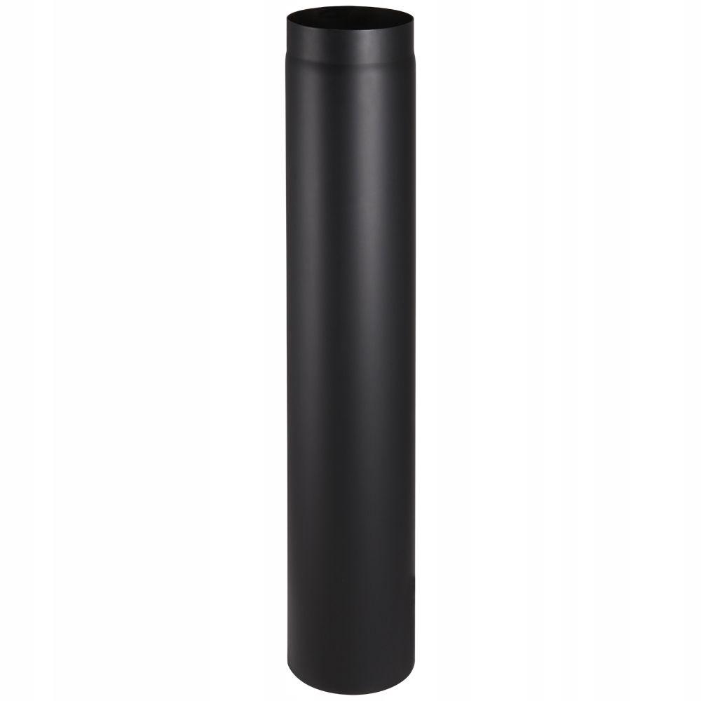 Čierna krbová rúra BERTRANS 180mm 100cm