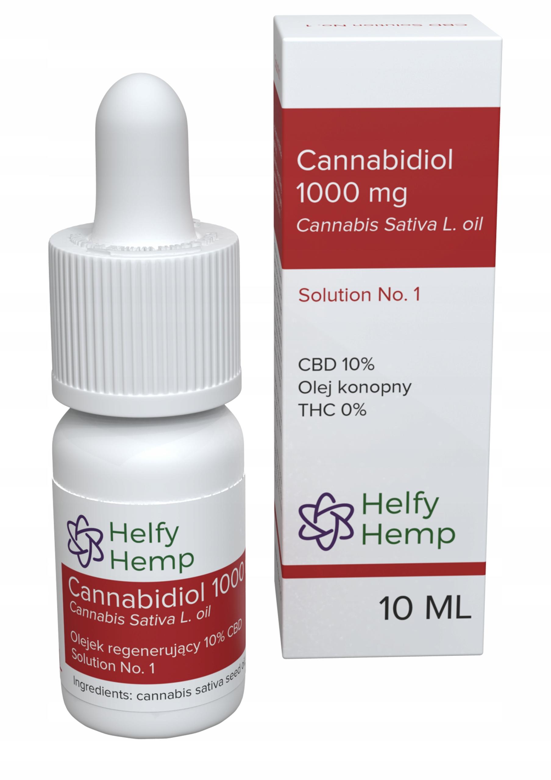 HelfyHemp olejek konopny 10% CBD 1000mg certyfikat