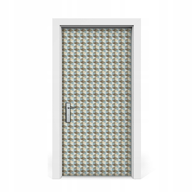 Nálepka na dvere Retro ilúzia dyha 95x205