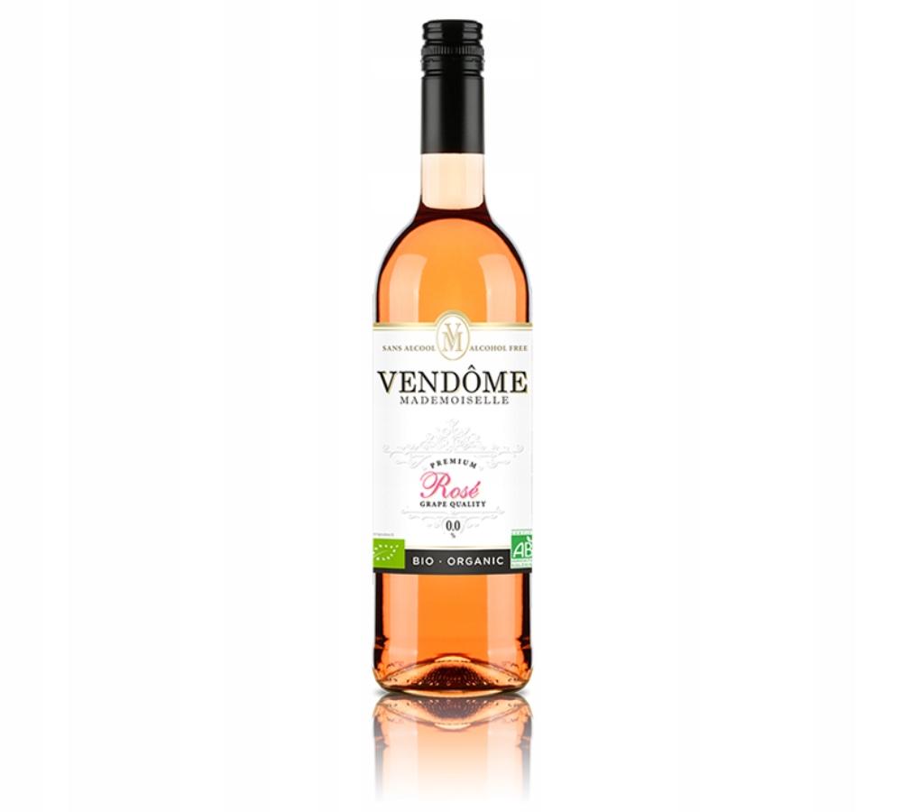 Wino Bezalkoholowe Vendome Rose BIO różowe 0,0%