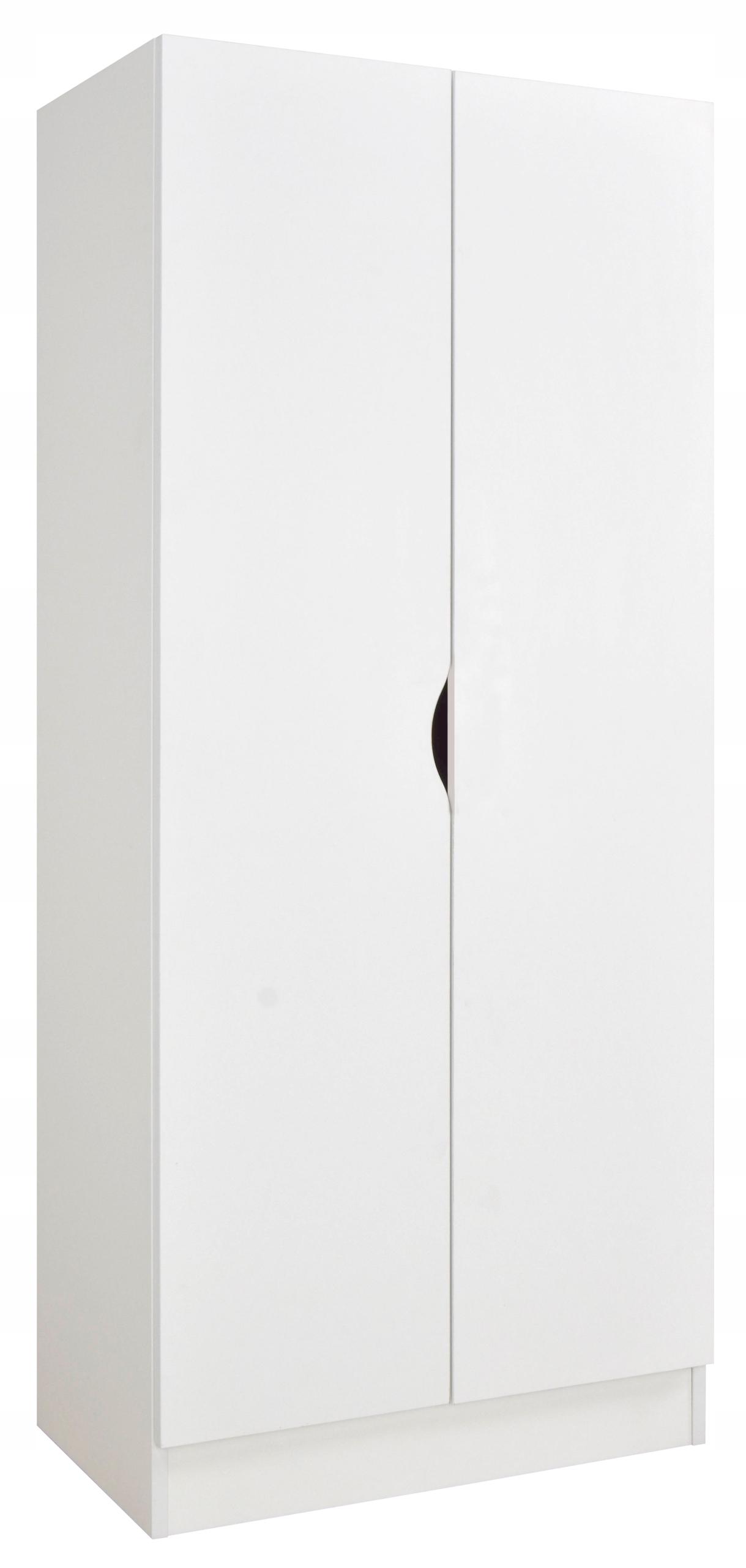 Szafa w kolorze białym Roma Junior 70x42,5x161,5cm