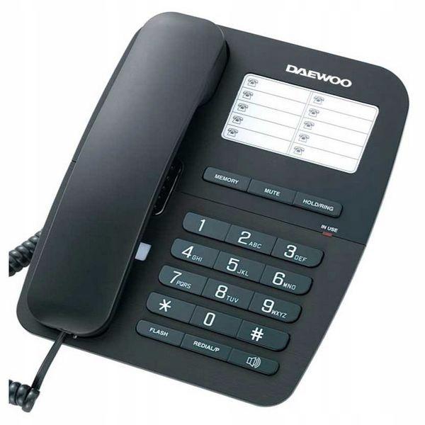 Купить Стационарный телефон Daewoo DTC-240 Черный на Otpravka - цены и фото - доставка из Польши и стран Европы в Украину.