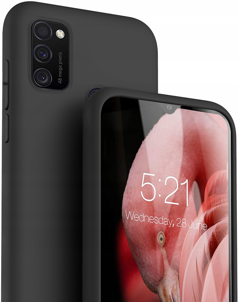 Etui do Samsung Galaxy M21 Case Silikon + Szkło 9H
