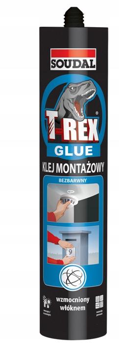 Soudal Klej Montażowy T-REX SUPER Bezbarwny 310 g