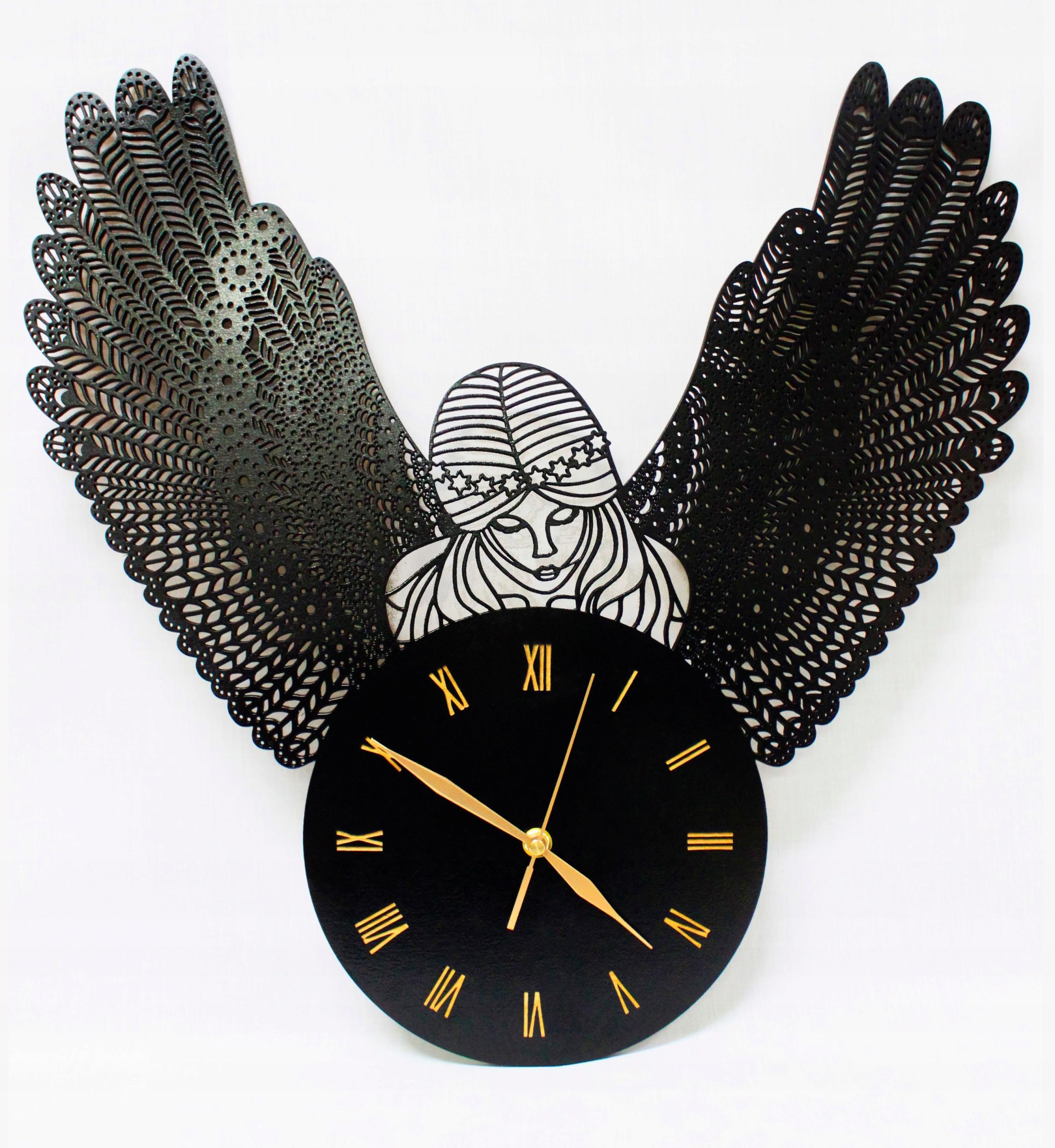 Hodiny Veľký anjel Amor Glamour Retro Vintage Seraph