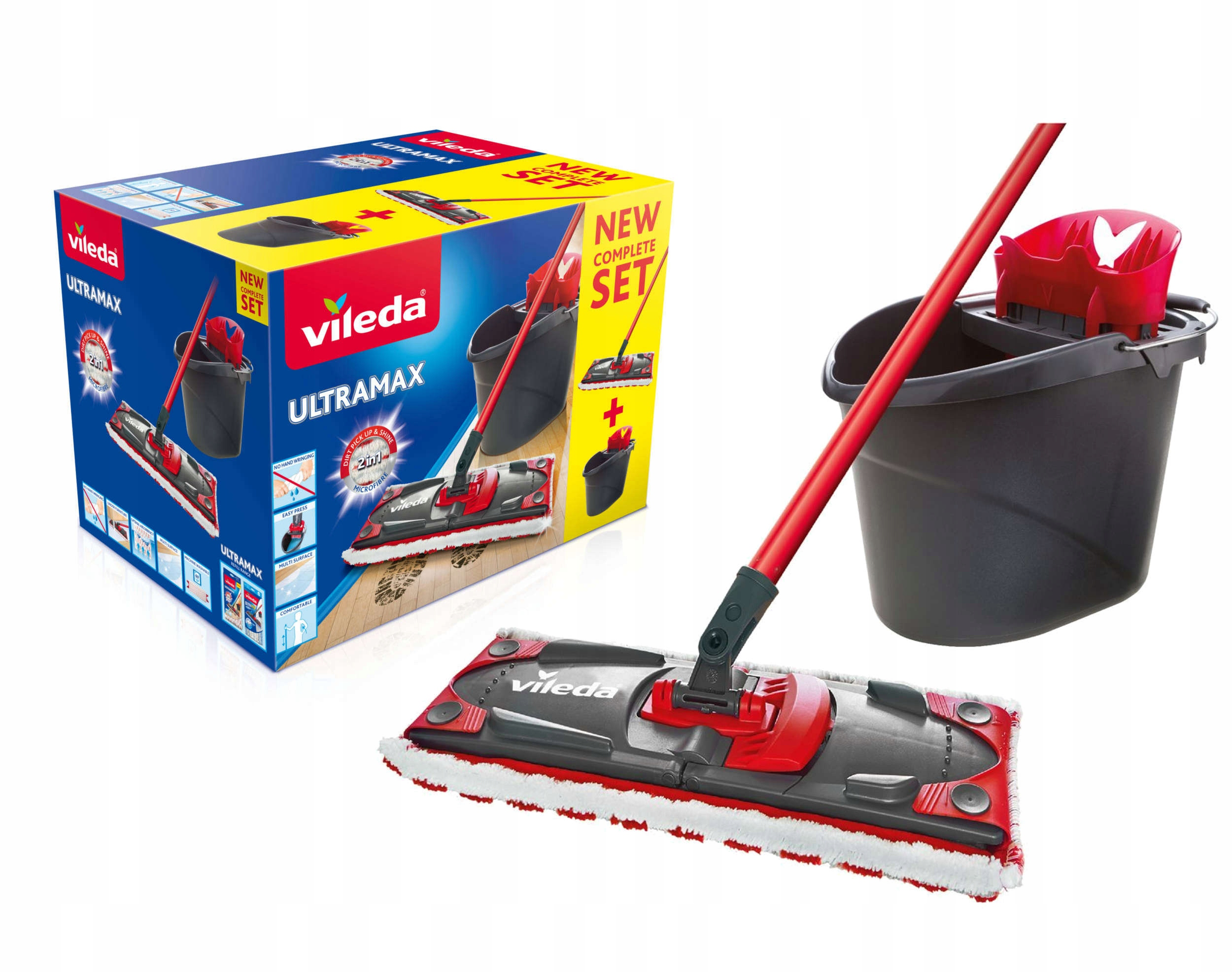 Vileda Комплект Ultramax Mop 2in1 Box с ведром
