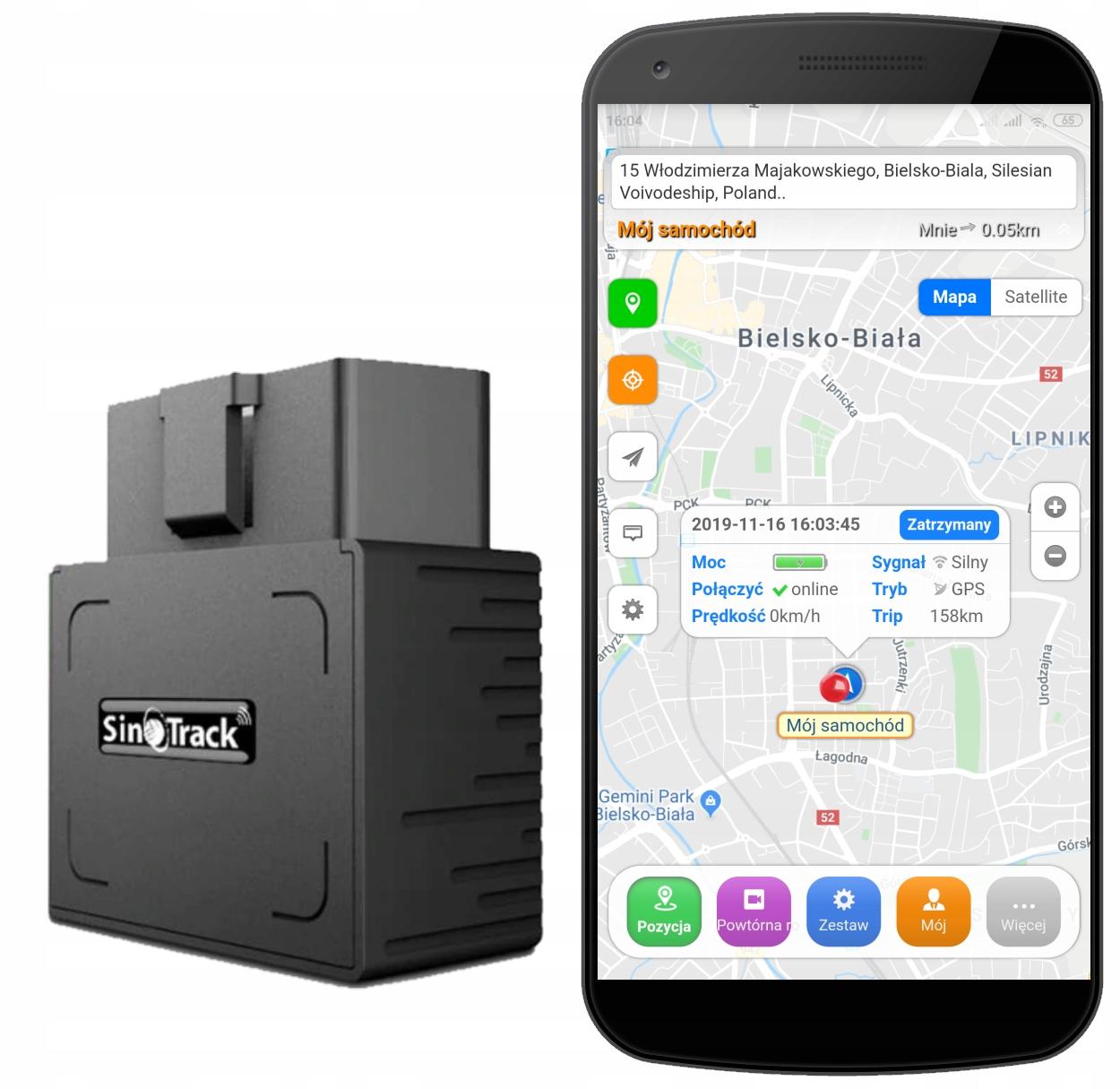GPS-локатор OBD2 для автомобиля не требует сборки