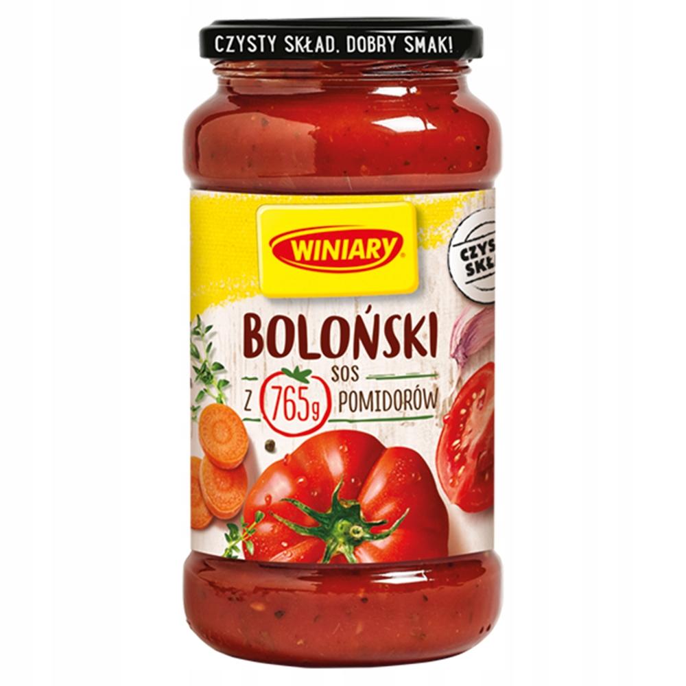 WINIARY Sos Boloński do spaghetti danie słoik 500g
