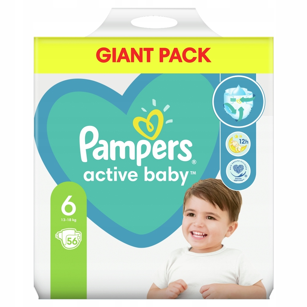 Pampers Active Baby, размер 6, 56шт, 13кг 18кг