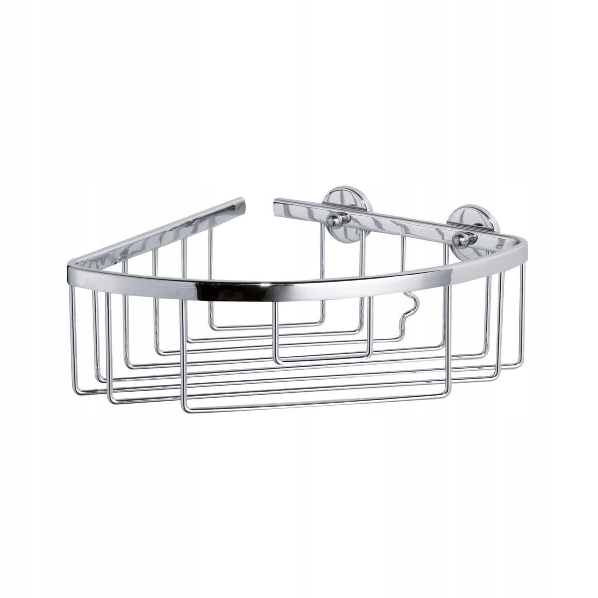Organizér chrómovaná rohová polička do kúpeľne